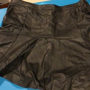 H&M Faux leather mini flair skirt